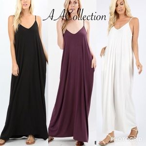 Dresses & Skirts - Maxi dress Oversized maxi dress pockets comfy S-XL